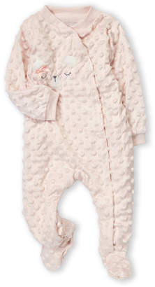 Baby Essentials Kyle & Deena (Newborn Girls) Bow Bear Textured Long Sleeve Footie