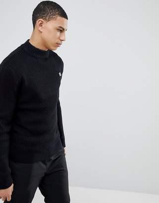 Soul Star Waffle Knit Turtleneck Sweater