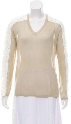 Magaschoni Silk Open Knit Top w/ Tags