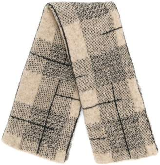 Boboutic checked scarf
