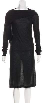 Ann Demeulemeester Draped Midi Dress