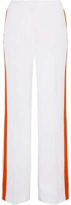 Victoria Beckham Victoria, Striped Crepe Wide-leg Pants - White