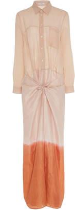 Tome Patchwork Wrap Cotton Maxi Dress