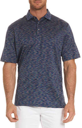 Robert Graham Raul Illusion-Pattern Polo Shirt