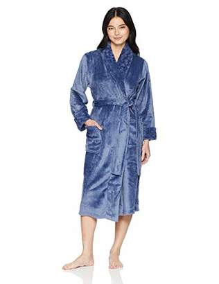 Arabella Women's Silky Plush Shawl Collar Robe