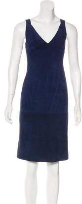 Trussardi Suede Knee-Length Dress