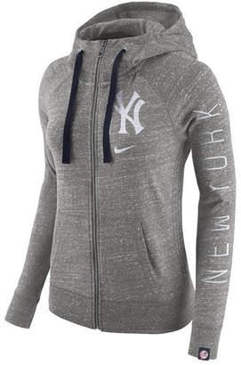 Nike Women's New York Yankees Gym Vintage Full Zip Hooded Sweatshirt