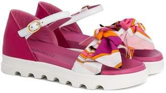 Emilio Pucci Junior bow detail sandals