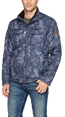 Free Country Men's Diamond Quilted Jacket with Corduroy Collar