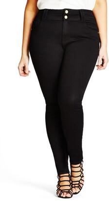 City Chic Asha High Waist Skinny Jeans