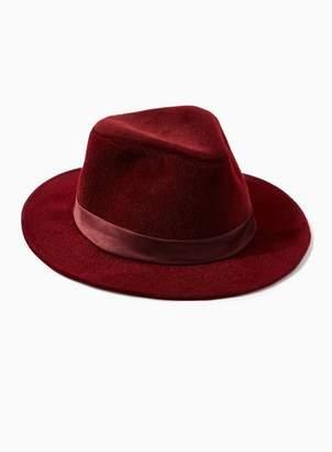 31e4638f29e Topman Mens Red Burgundy Fedora Hat