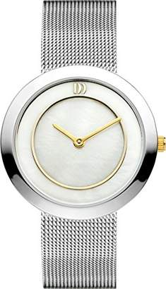 Mother of Pearl Danish Designs Danish Design Women's Quartz Watch with Dial Analogue Display and Silver Stainless Steel Bracelet DZ120225