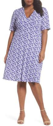 MICHAEL Michael Kors Floral Fit & Flare Dress