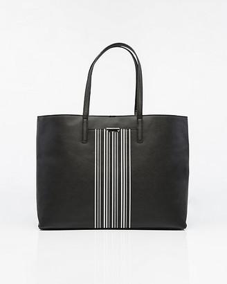 Le Château Stripe Saffiano Faux Leather Tote Bag