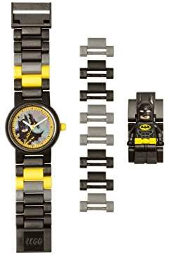 Lego Movie 8020837 Kids Minifigure Link Buildable Watch | Black/Yellow | Plastic | 25mm case Diameter| Analog Quartz | boy Girl | Official