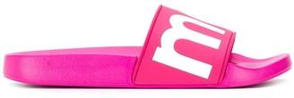 Isabel Marant fuchsia pink sliders