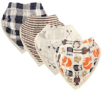 Baby Vision Hudson Baby Muslin Bandana Bibs, 4-Pack, Woodland Creatures, One Size