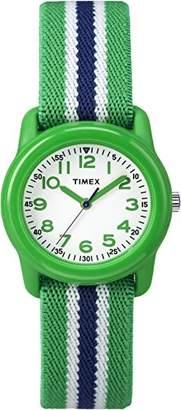 Timex Boys TW7C06000 Time Machines Analog Resin Elastic Fabric Strap Watch