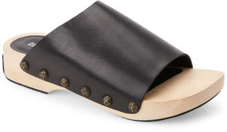 Opening Ceremony Black Nykola Wooden Platform Clogs