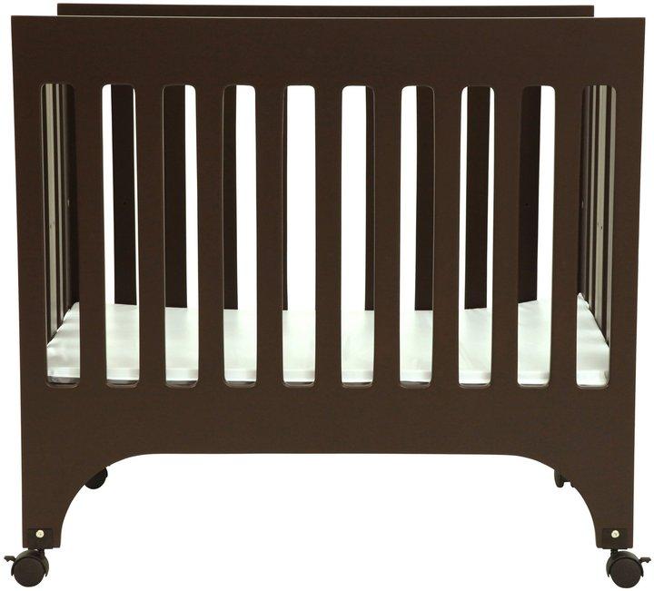 Grayson Babyletto Mini Crib with Pad - Espresso