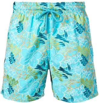 Vilebrequin floral embroidery swim shorts