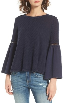 Women's Sun & Shadow Washed Cotton Bell Sleeve Top $39 thestylecure.com