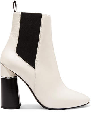 3.1 Phillip Lim Drum Leather Ankle Boots - White