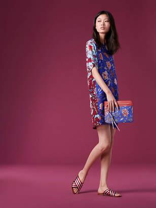 Diane von Furstenberg Short-Sleeve Mini Fluid Dress