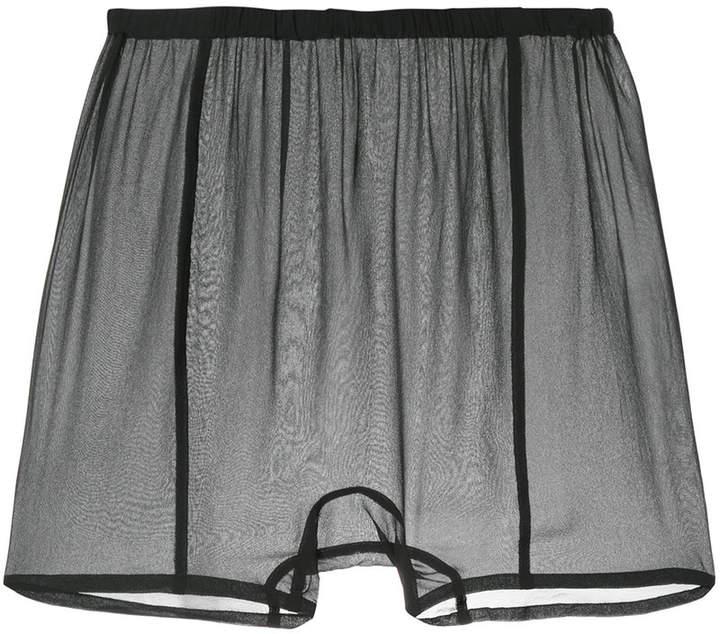 Semi-transparente Shorts