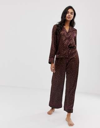7cf16df437 Savage X Fenty Savage x Fenty animal print satin pyjama bottoms in toffee  leopard