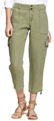 Sanctuary Terrain Linen Crop Cargo Pants