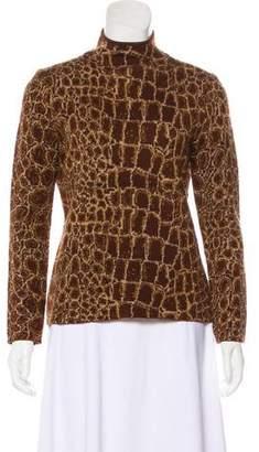 Valentino Mock Neck Wool Sweater
