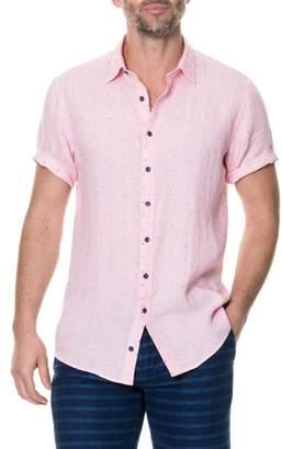 Rodd & Gunn Landmark Slim Fit Dot Linen Sport Shirt