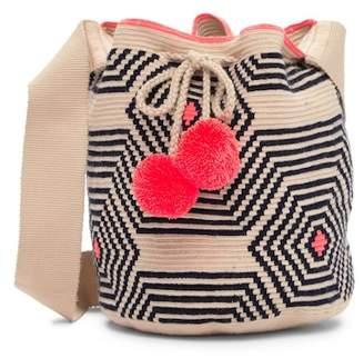 Sophie Anderson Lilla Pompom Crochet Shoulder Bag