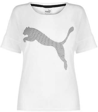 Puma Womens Loose T Shirt Short Sleeve Performance Tee Top Crew Neck Lightweight