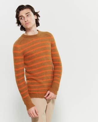 Roberto Collina Stripe Knit Long Sleeve Sweater