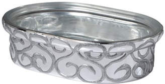 Mike and Ally Mike & Ally Jamila Glass Soap Dish, Silver