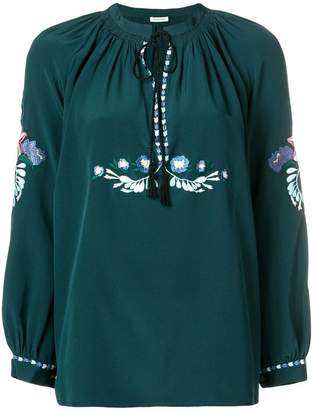 Vilshenko embroidered longsleeved blouse