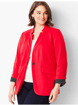 Talbots Perfect Ponte Blazer- Solid