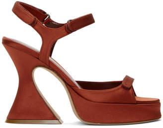 Sies Marjan Orange Satin Ellie Strappy Sandals