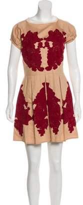 Paul & Joe Embroidered Mini Dress