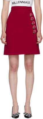 Dolce & Gabbana Pink Rose Buttons A-Line Skirt