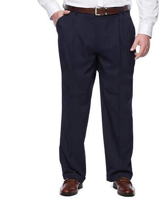 Van Heusen Men's Traveler Stretch Pleated Straight-Leg Dress Pant- Big and Tall