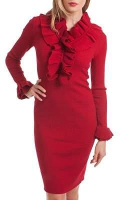 Trina Turk Cocktail Soiree Ruffled Dress