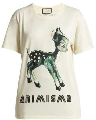 Gucci Animismo Print Cotton T Shirt - Womens - White