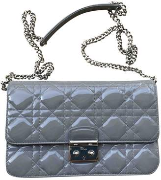 Christian Dior Miss Grey Patent leather Handbags