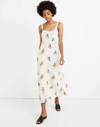Madewell Silk Wide-Strap Midi Dress in Classic Corsage