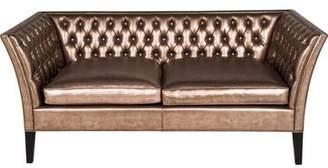 Versace Shadow Tufted Metallic Leather Sofa