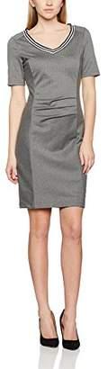 Kaffe Women's 10500982 Pencil V-Neck Short Sleeve Dress - Grey - Medium