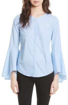 Women's Milly Michelle Stripe Bell Sleeve Blouse $298 thestylecure.com
